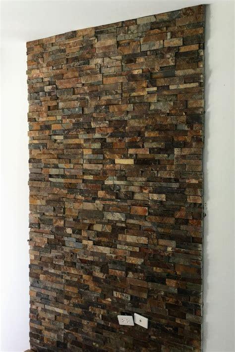 หินกาบสันหนา สีสนิม 15x60x2-3 ซม. #หินติดผนังในบ้าน #หินตก ...