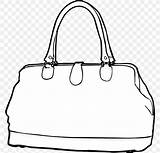 Clip Handbag Drawing Bag Coloring Favpng sketch template