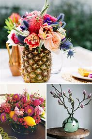 Pineapple Vase Floral Arrangement