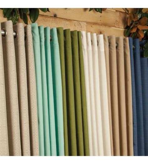 best outdoor drapery sunbrella curtains in lots of