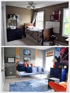 Orange and Gray Boys Room
