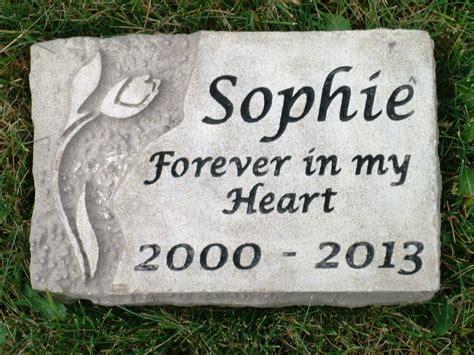 personalized memorial garden engraved limestone ebay