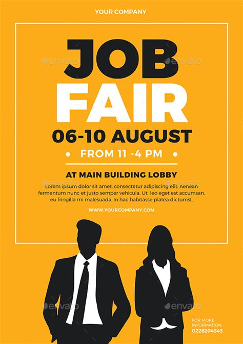 Job Fair Flyer By Vynetta  Graphicriver. Inside Sales Cover Letters Template. Resume For Students In College Template. Resume Model Free Download Template. Donation Envelope Template. Printable February Calendar 2018 Template. Logos For Lawn Service Template. Spreadsheet For Tax Deductions Template. Sample Resumes For High School Students With No Template