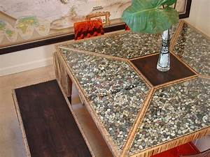 23 best images about river rock ideas on pinterest river With river rock coffee table