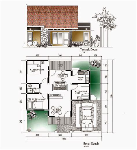 desain rumah minimalis  lantai ukuran
