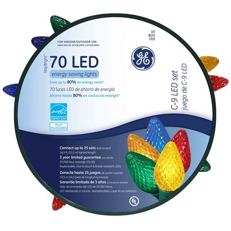 general electric 90950sr 70 bulb multi color led c9