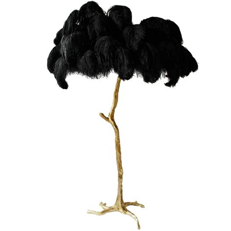 Exquisite Hollywood Regency Sculptural Ostrich Feather
