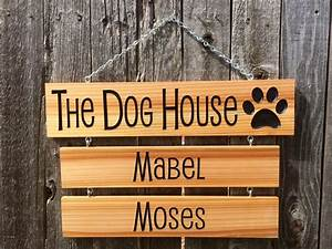 The, Dog, House, Sign, With, Drop, Down, Name, Signs, Wood, Signs, With