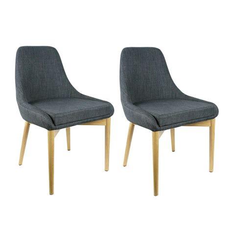 chaise tissu salle a manger lot de 2 chaises tissu gris anthracite salle à manger