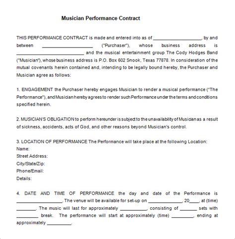 15 performance contract templates word pdf docs documents free premium