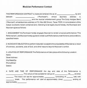 12 performance contract templates free word pdf With music performance contract template