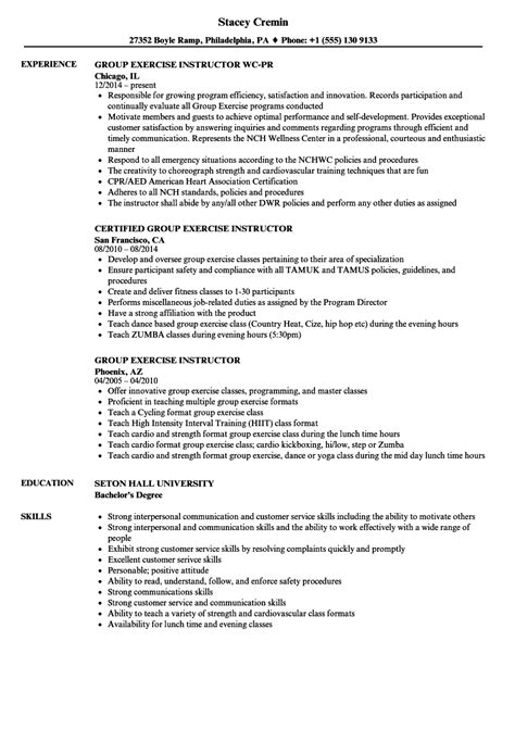 Fitness Instructor Resume by Description Of A Instructor Anotherhackedlife