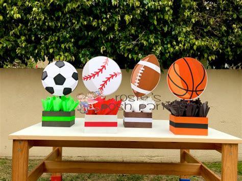 sports theme centerpiece sports party sports birthday