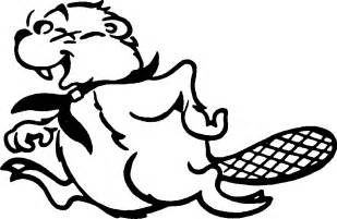 Beaver Coloring Page Clip Art