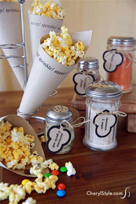 diy popcorn bar  printable labels everyday dishes diy