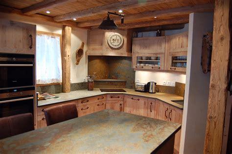 cuisine chalet bois cuisine et bois fabricant de cuisine sur mesure