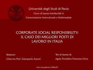 Scienze E Tecniche Psicologiche Pavia by Ppt Esempio Di Presentazione Powerpoint Per Tesi Di