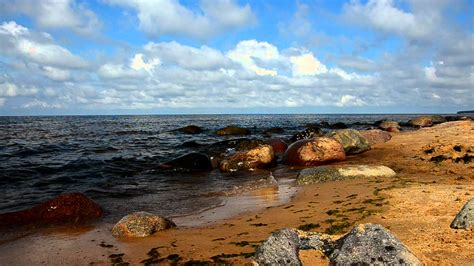 Rīgas jūras līcis pie Tūjas - YouTube