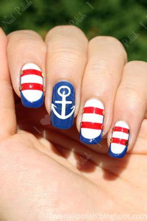 tara leeincandyland sailornautical nail designs