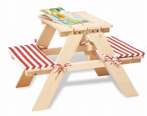Table De Jardin Enfant : table ext rieur pour 2 enfants en pin massif avec bancs int gr s pinolino ~ Teatrodelosmanantiales.com Idées de Décoration