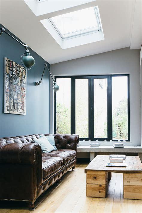 chambre style industrielle nuances de bleu style industriel frenchy fancy