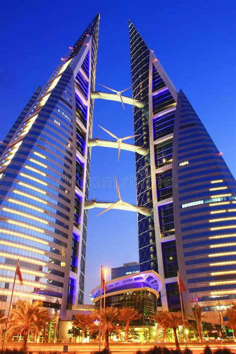Bahrain World Trade Center editorial stock image. Image of ...