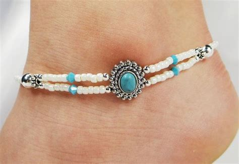 168 Best Images About Beaded Anklets On Pinterest