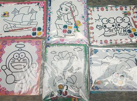 best seller mainan anak mewarnai dengan cat air motif
