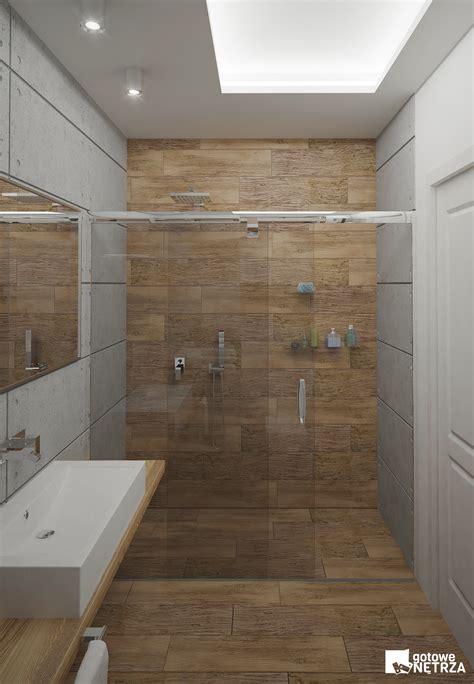 badezimmer holzfliesen łazienka z betonu architektonicznego z projektem gratis
