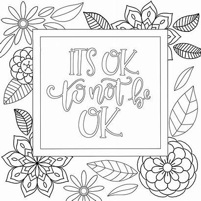 Coloring Pages Printable Motivational Quote Zentangle Paper