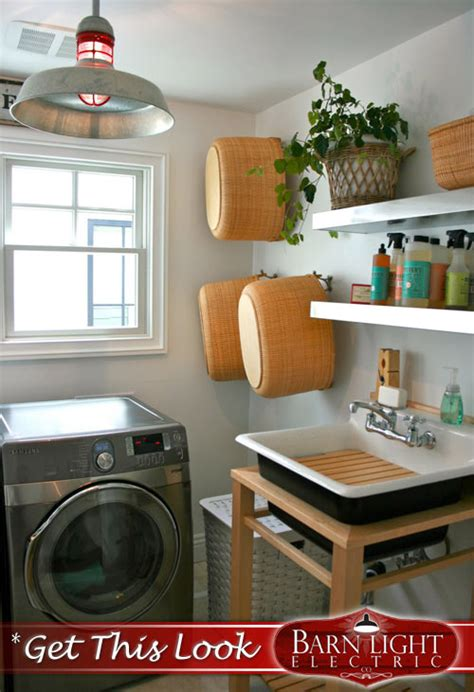 laundry room lighting solutions with modern nautical flair