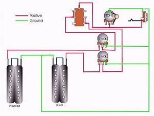 Guitar Wiring Diagram 2 Pickup 1 Volume 1 Tone