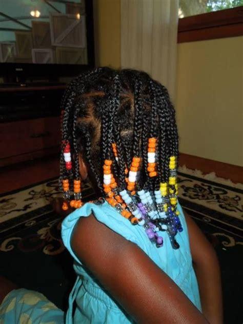 rainbow box braids  beads   natural hairstyles