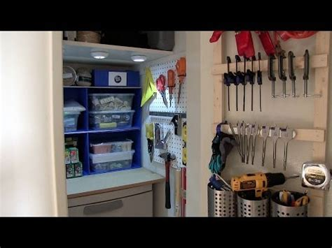 Tool Closet Organization Ideas by How To Organize Your Closet For Tools Or Crafting Supplies