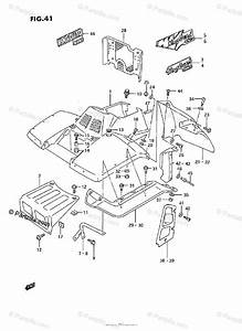 Suzuki Atv 1992 Oem Parts Diagram For Front Fender  Model