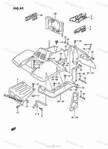 Suzuki Atv 1992 Oem Parts Diagram For Front Fender  Model