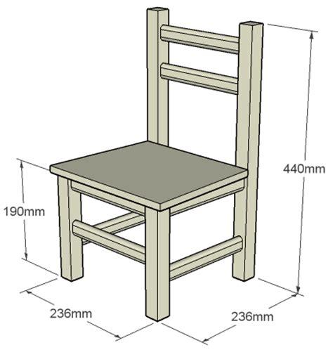 plan de chaise en bois gratuit chaise en bois enfant mobilier sur enperdresonlapin