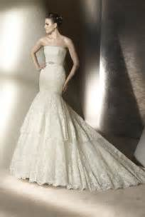 mermaid lace wedding dresses lace mermaid wedding dress by san 2012 onewed