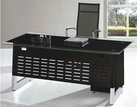 bureau treteau verre plateau en verre moderne tréteau bureau bureau avec métal