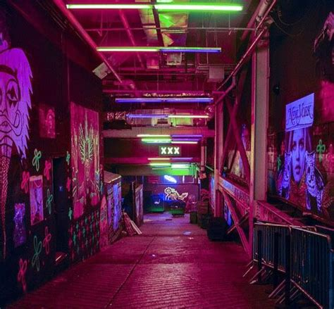 glow  cyberpunk city street tunnel underway urban
