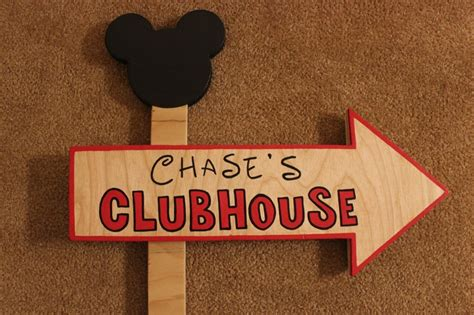 mickey mouse outdoor l post wood mickey mouse or minnie mouse clubhouse sign outdoor