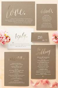 21 gorgeous gold foil printed wedding invitations With wedding invitations online gold foil
