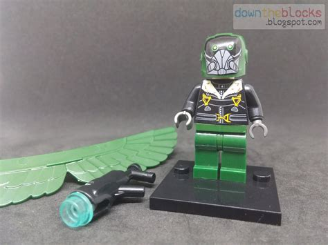 downtheblocks xinh 676 vulture minifig with moc wings from spider man homecoming review