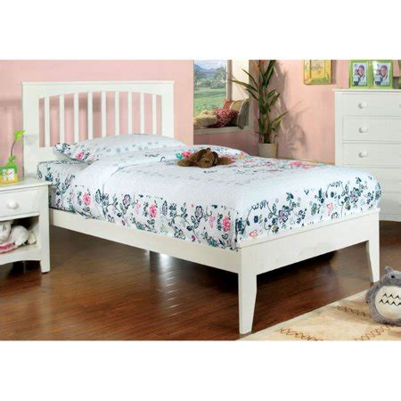 furniture  america myriam twin platform bed  white