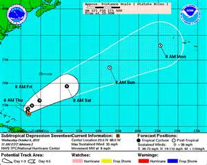 Map of Tropical Storm Hurricane Otto