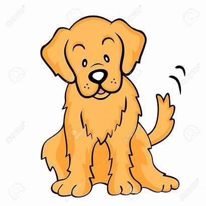 Retriever Golden Clip Clipart Cartoon Dog Vector