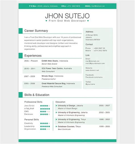 Free Psd Print Ready Resume Template by Curriculum Vitae Curriculum Vitae Design Template