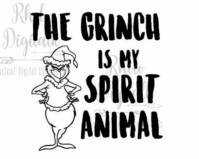 Grinch Spirit Animal Svg Vinyl
