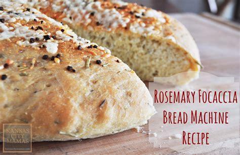 bread machine recipes rosemary bread machine bread