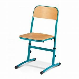 Chaise D école : chaise d 39 cole r glable chaise scolaire axess industries ~ Teatrodelosmanantiales.com Idées de Décoration